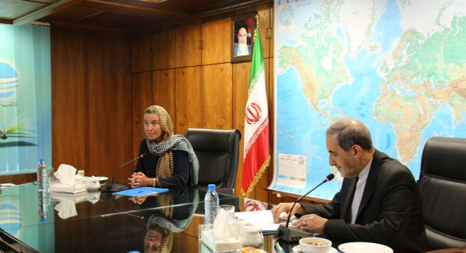 EU Foreign Policy Chief, Dr. Velayati Meet in Tehran